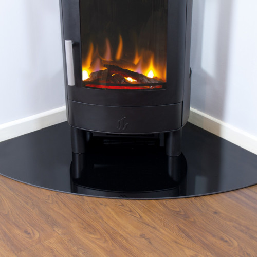 Corner Glass Hearth (6mm)